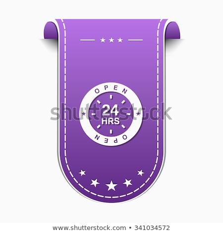 24 hizmet mor vektör ikon dizayn Stok fotoğraf © rizwanali3d
