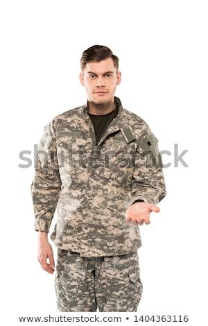Moço isolado branco homem verde Foto stock © Elnur