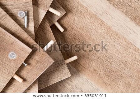 Unfinished and Unassembled Wood Shelves Stock photo © ozgur