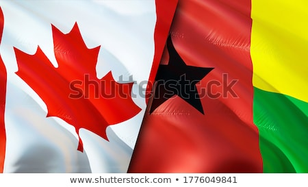 Canada and Guinea-Bissau Flags Stock photo © Istanbul2009