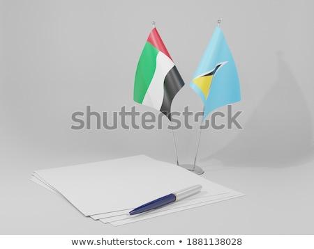 Объединенные Арабские Эмираты святой флагами головоломки изолированный белый Сток-фото © Istanbul2009