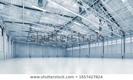épület ipari előcsarnok építkezés űr ipar Stock fotó © tarczas