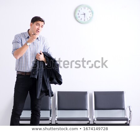 Tired passenger awaiting the flight home Stock photo © H2O