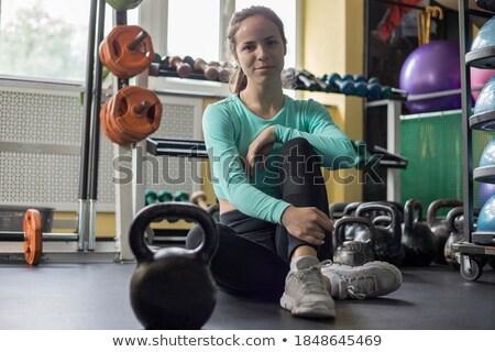 Kulturysta szkolenia pokój nude zdrowia sportowe Zdjęcia stock © Paha_L