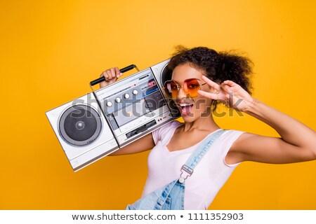 hip-hop girl gesture V Stock photo © Paha_L