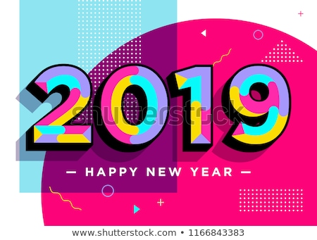 abstract funky new year text Stock photo © pathakdesigner