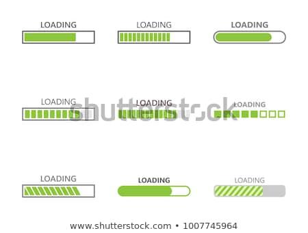 Loading Progress Bar Design Style Stock photo © robuart