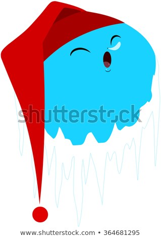 Sleeping Frozen Planet With Red Hat stock photo © LironPeer