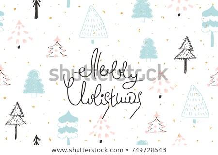 Arany vázlatos karácsonyi üdvözlet illusztráció fehér absztrakt Stock fotó © get4net