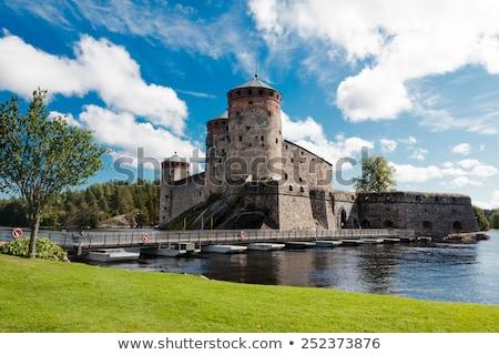 крепость · Восход · воды · здании · солнце - Сток-фото © Steffus