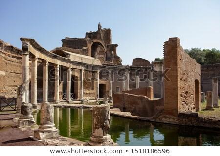 Starożytnych ruiny willi podróży architektury posąg Zdjęcia stock © vladacanon