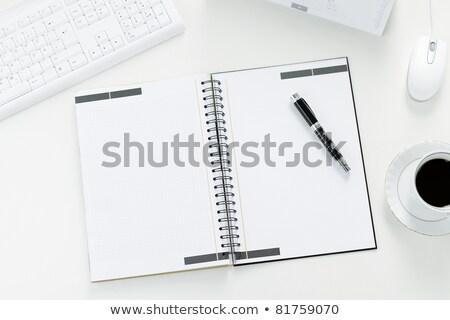 文字 · アイデア · オープン · 白 · 図書 · 青 - ストックフォト © punsayaporn