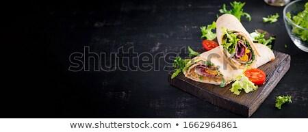 新鮮な野菜 トルティーヤ 食品 ニンジン レタス クローズアップ ストックフォト © Digifoodstock
