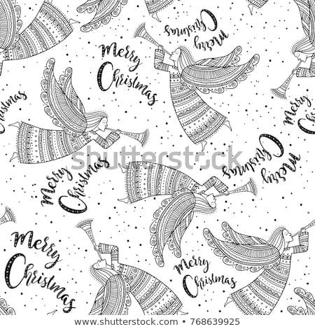 Textile Christmas Angel decoration Stock photo © Digifoodstock