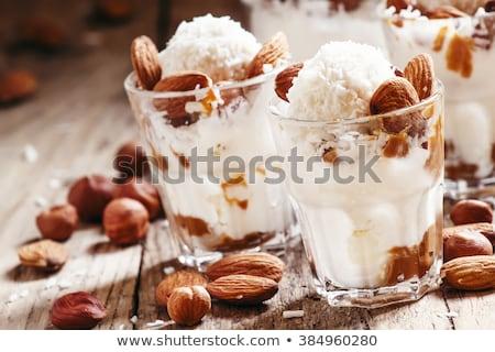 Chocolate almond ice cream stock photo © Digifoodstock