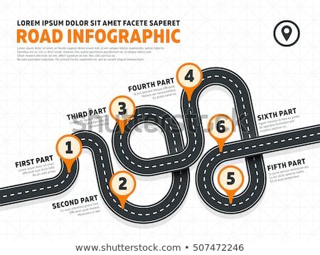 Drogowego sposób projektu infografiki biały działalności Zdjęcia stock © m_pavlov