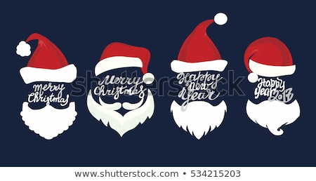 doodle santa claus icon stock photo © pakete