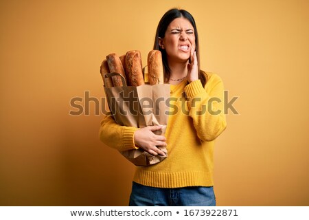 Loaf of bread with a face Stock photo © bluering