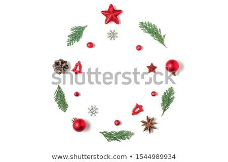 Fenyő ágak golyók karácsony absztrakt terv Stock fotó © Genestro