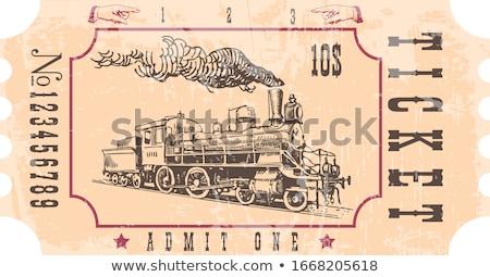 trein · vintage · spoorweg · stoom · motor - stockfoto © Qingwa