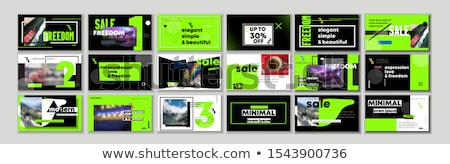 Green webinar icon with highlight Stock photo © Oakozhan