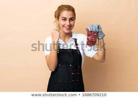 женщину мясник иллюстрация продовольствие мяса магазин Сток-фото © adrenalina