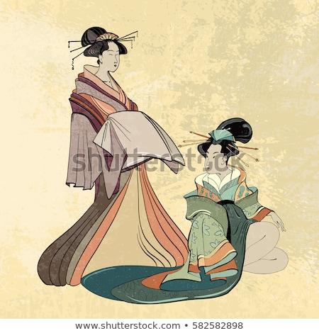 jóvenes · mujer · hermosa · japonés · ropa · aislado · estudio - foto stock © user_9834712