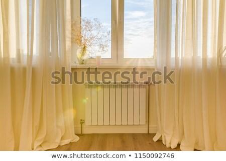 Aquecimento radiador janela quarto casa pipes Foto stock © ssuaphoto