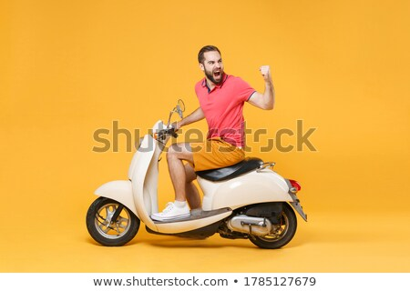 angry driver with fists up screaming Stock photo © ichiosea