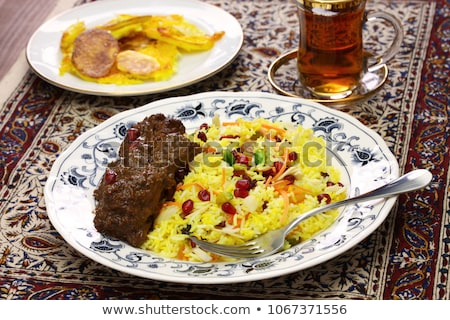 Braised Saffron Rice with Dried Fruits Stock photo © monkey_business