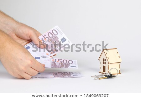 ユーロ · 家 · お金 · ホーム · 金融 - ストックフォト © imaster