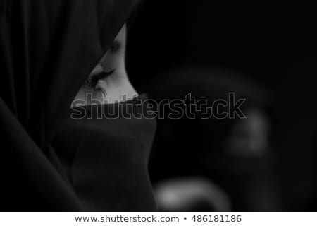 Muslim Mädchen Schleier Illustration Gebet Kleid Stock foto © adrenalina