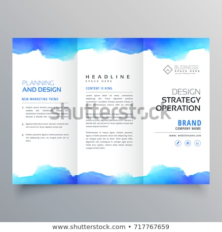 creative watercolor trifold brochure design template Stock photo © SArts