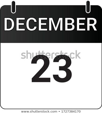 December kalender twintig derde Stockfoto © Oakozhan