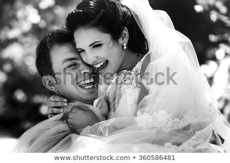 счастливым новобрачный пару парка Постоянный Сток-фото © wavebreak_media