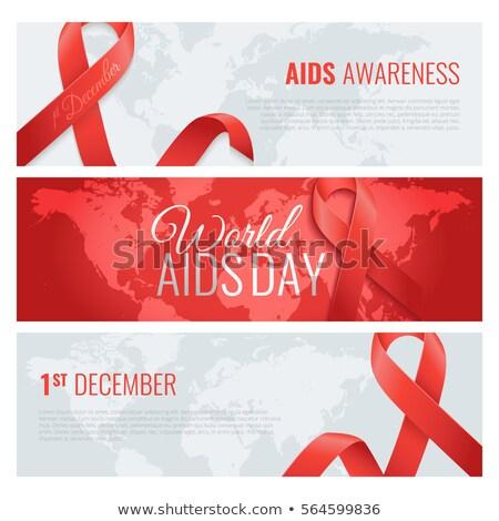 December AIDS naptár nap ünnep világ Stock fotó © Olena