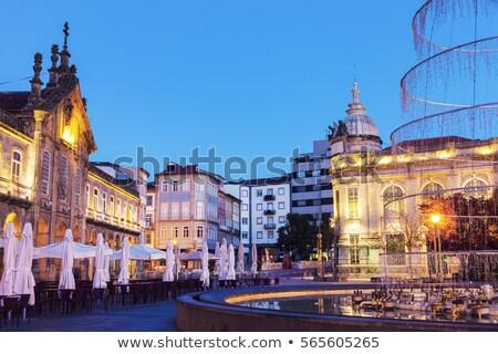 LA hajnal régió Portugália város kék Stock fotó © benkrut
