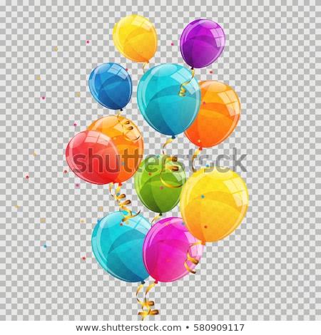 balões · aniversário · férias · celebração · isolado · branco - foto stock © timurock