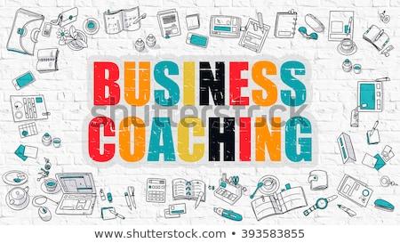 Business Coaching Concept. Multicolor on White Brickwall. Stock photo © tashatuvango