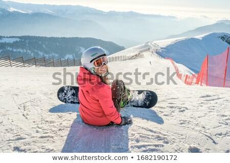 少女 · スノーボード · 画像 · 幸せな女の子 · 冬 · リゾート - ストックフォト © is2