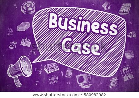 Rabisco ilustração roxo quadro-negro negócio alto-falante Foto stock © tashatuvango