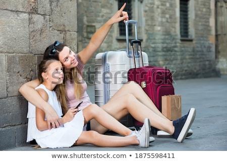 Vieja senalando dedo algo mirando aislado Foto stock © RazvanPhotography