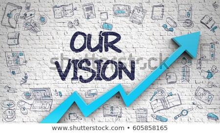 Succes visie witte muur opschrift Stockfoto © tashatuvango