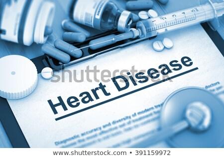 Magas vérnyomás diagnózis orvosi tabletták injekciós tű 3D Stock fotó © tashatuvango