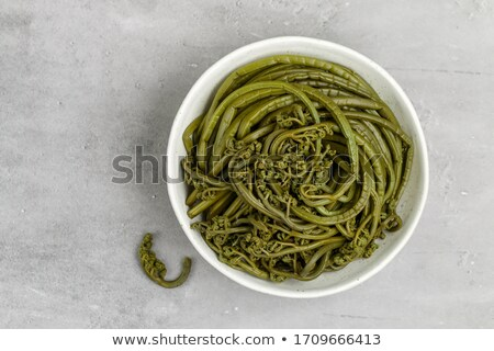 Stock photo: Salty fern on a dish