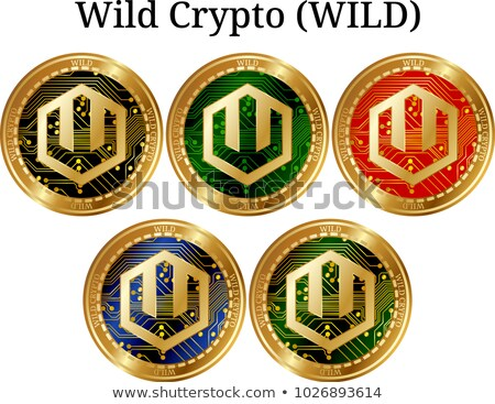 Virtueel valuta munt illustratie grafische symbool Stockfoto © tashatuvango