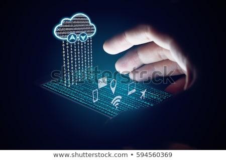деловой · женщины · сидят · облаке · ноутбука · рабочих - Сток-фото © rastudio