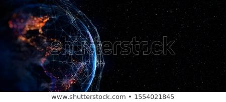 Absztrakt globális kapcsolatok hálózat világ technológia Stock fotó © alexaldo