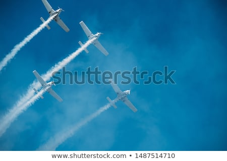 army air force on the blue sky stock photo © bluering