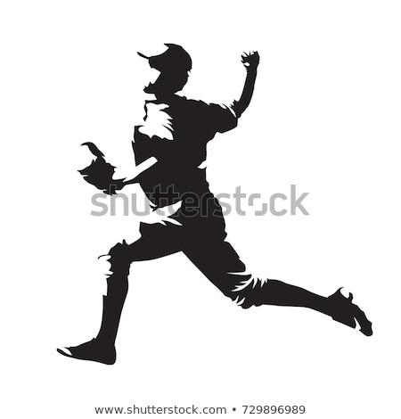 бейсбольной · софтбол · вектора · изображение · спорт · фон - Сток-фото © m_pavlov